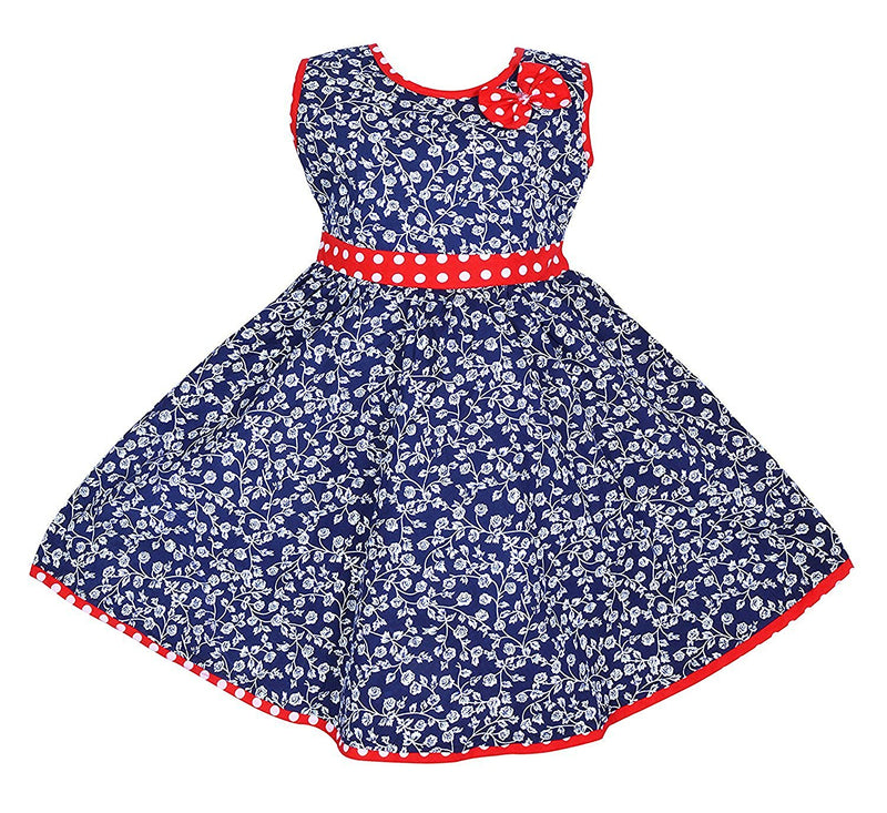 Baby Girls Cotton Frock Dress Ctn164nb -  Wish Karo Dresses