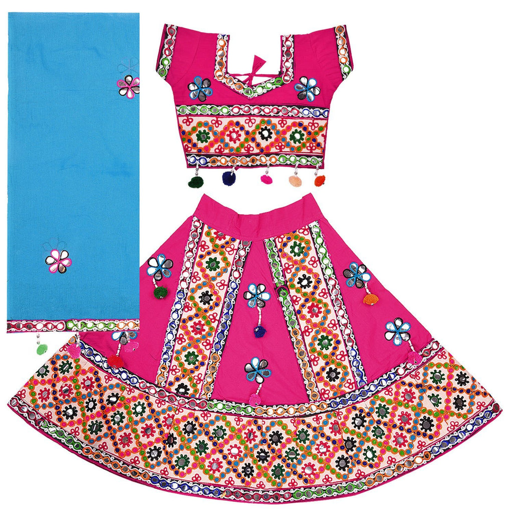 Girl's  Ghaghra Choli GC 126pnk -  Wish Karo Dresses