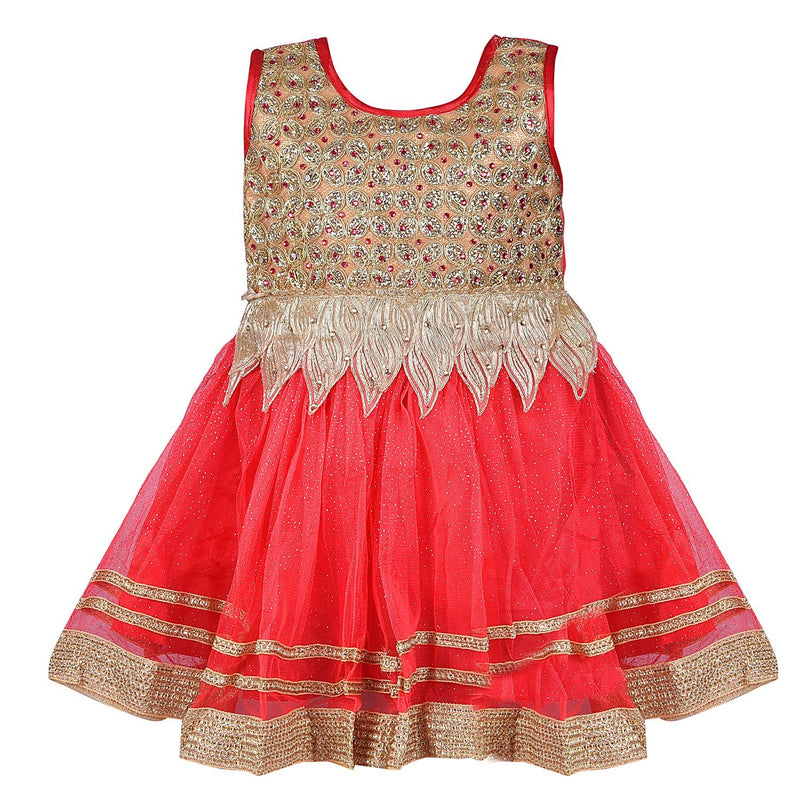 Party wear Baby Girls Frock Dress fr1522rd -  Wish Karo Dresses