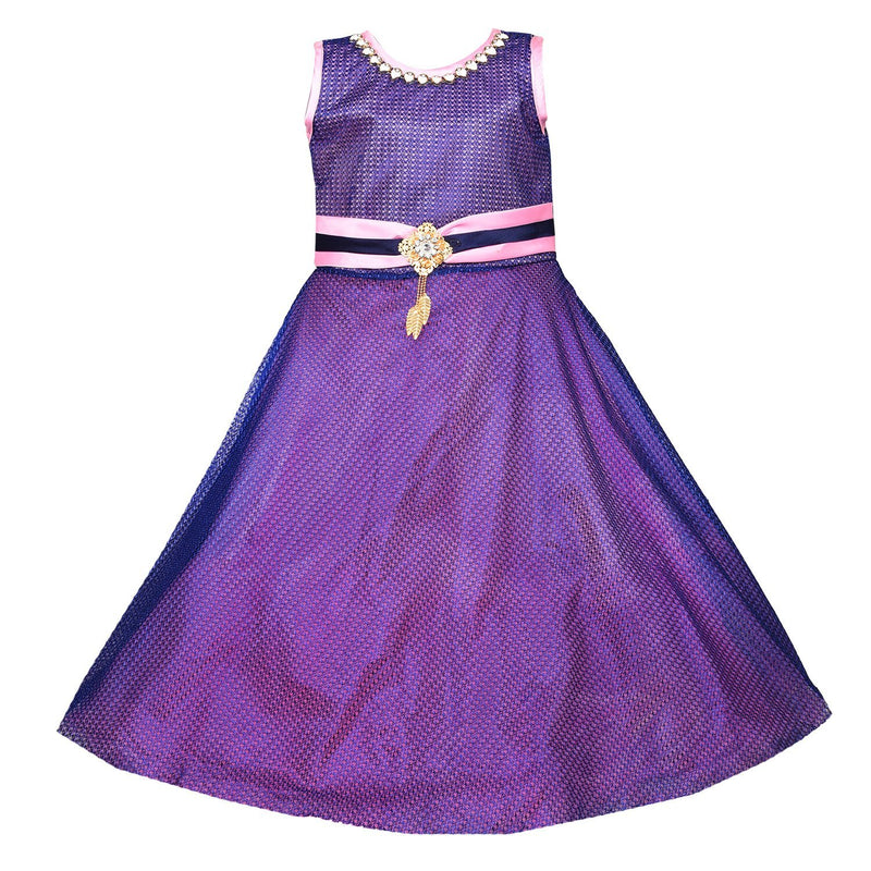 Girls Party Wear Long Dress Gown LF133pnk -  Wish Karo Dresses