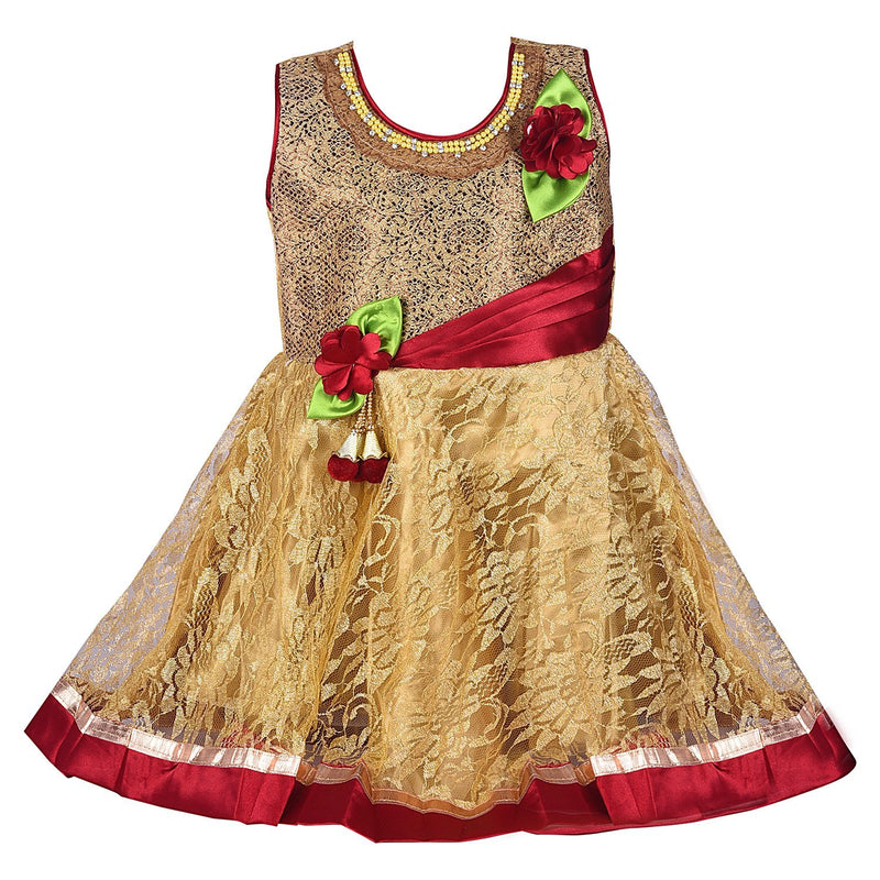 Baby Girls Party Wear Frock Dress Fr1525 -  Wish Karo Dresses