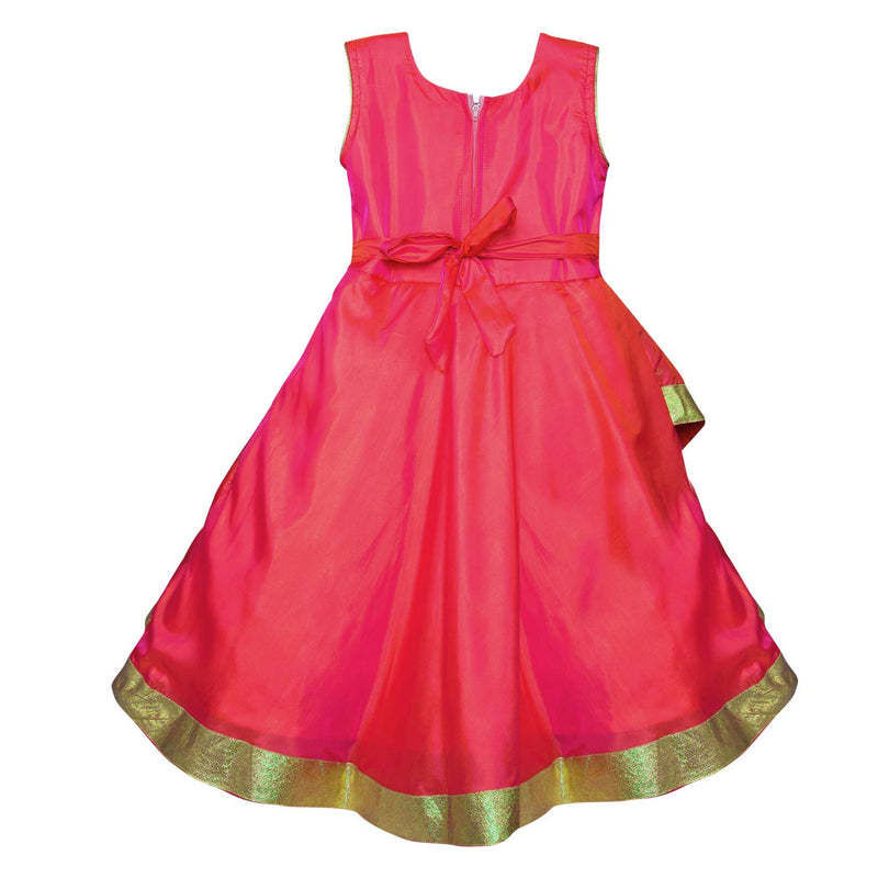 Girls Party Wear Long Dress Birthday Gown for Girls LF144pnk
