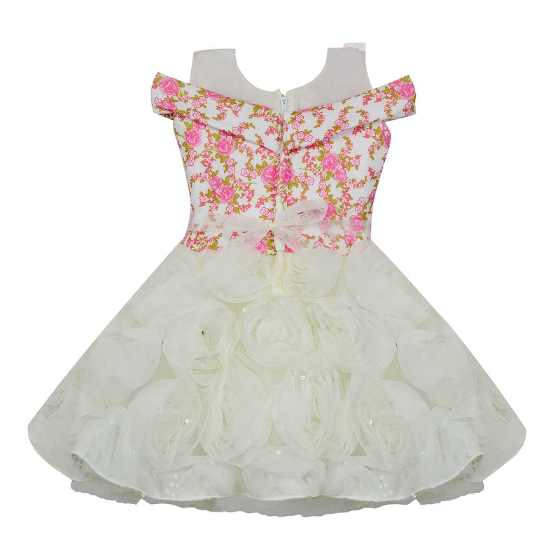 Baby Girls Party Wear Frock Dress bx158pnknw -  Wish Karo Dresses