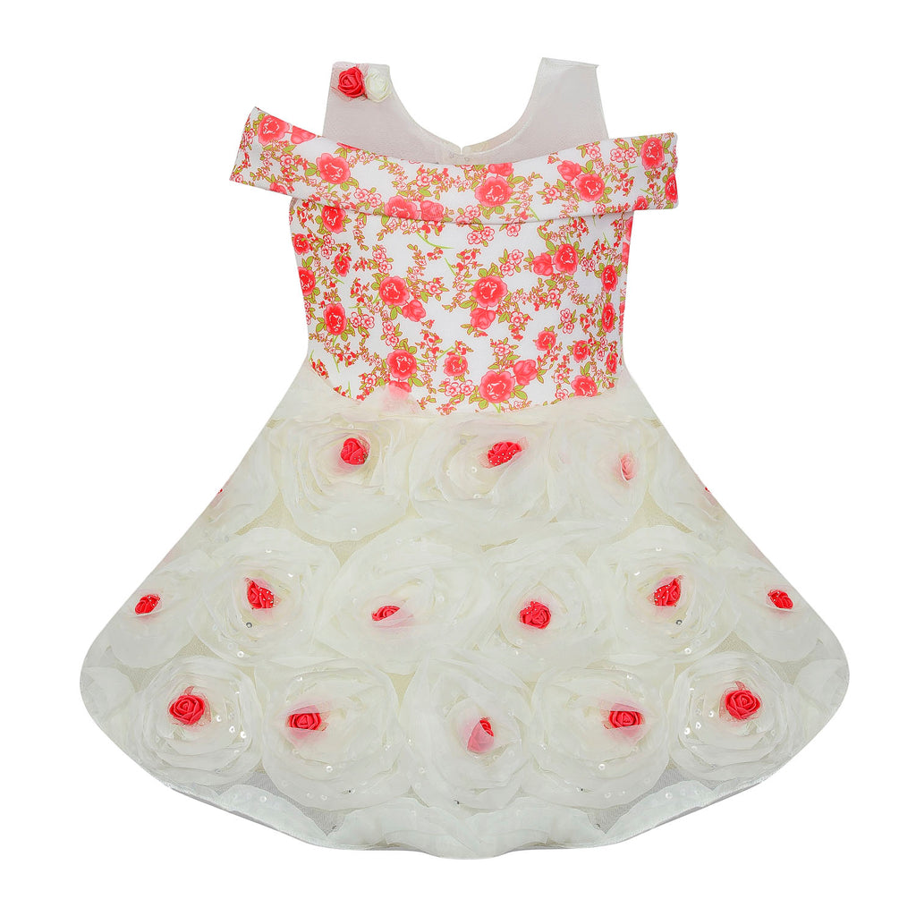 Baby Girls Party Wear Frock Dress bx158rdnw -  Wish Karo Dresses