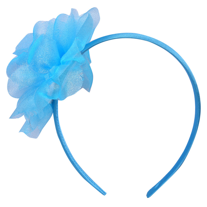 Bby Girls fluffy hairband Blue -  Wish Karo Dresses
