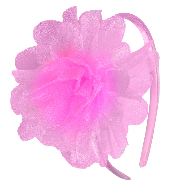 Bby Girls fluffy hairband pink -  Wish Karo Dresses