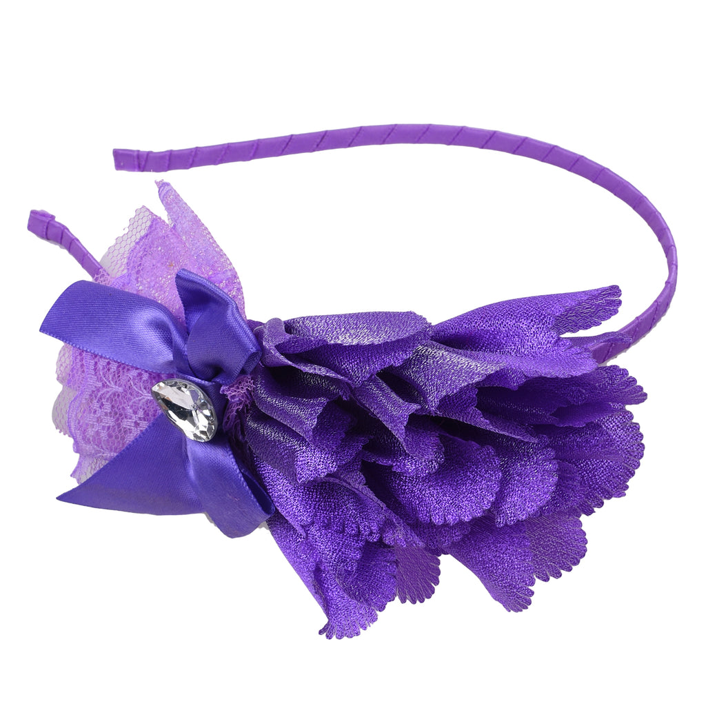 Bby Girls fluffy hairband violet -  Wish Karo Dresses