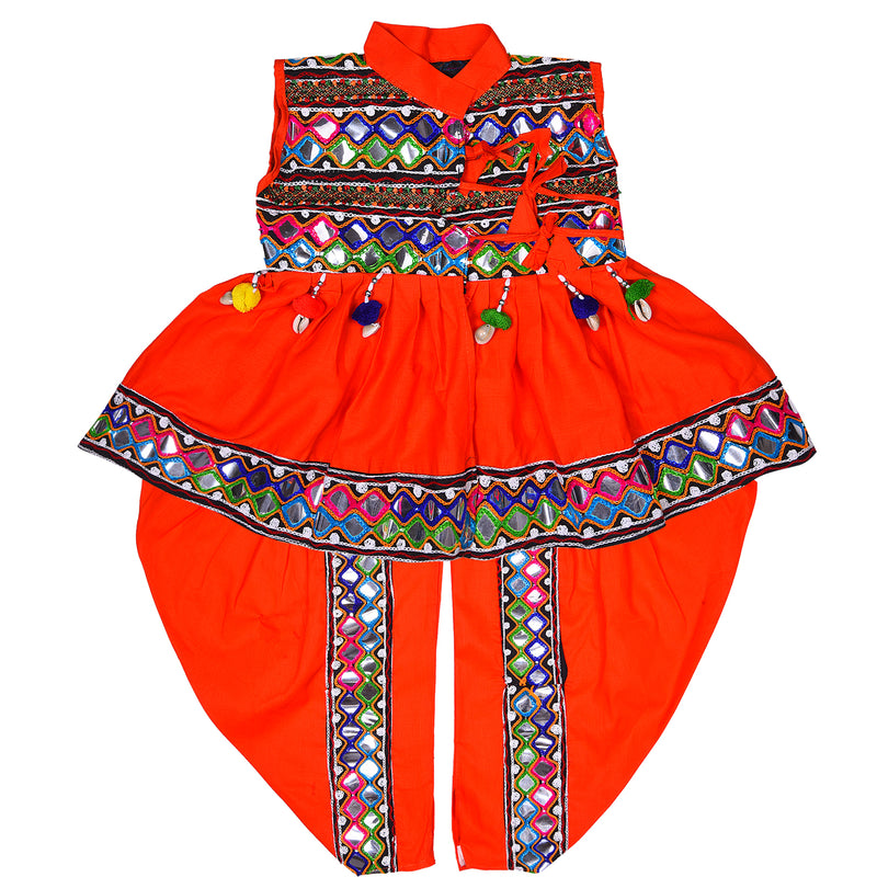 Boys Sleeveless Hand Embroidered Kedia Set BD143org