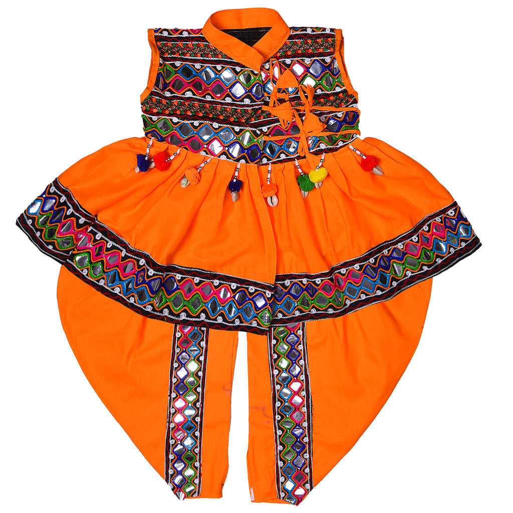 Boys Sleeveless Hand Embroidered Kedia Set BD143y