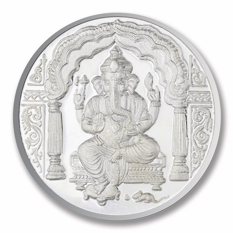 Shree Ganesha Silver Coin (20 gms) -  Wish Karo Dresses