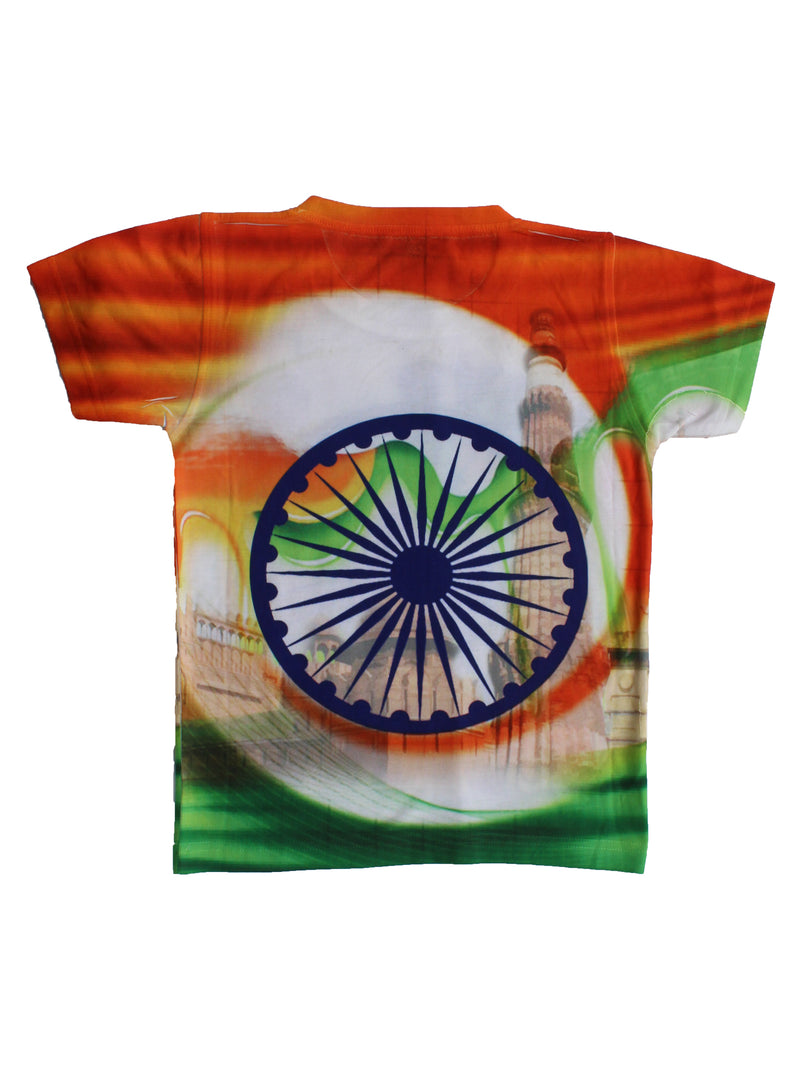 Wish Karo | Boys Love My India Tshirt Multi-Color