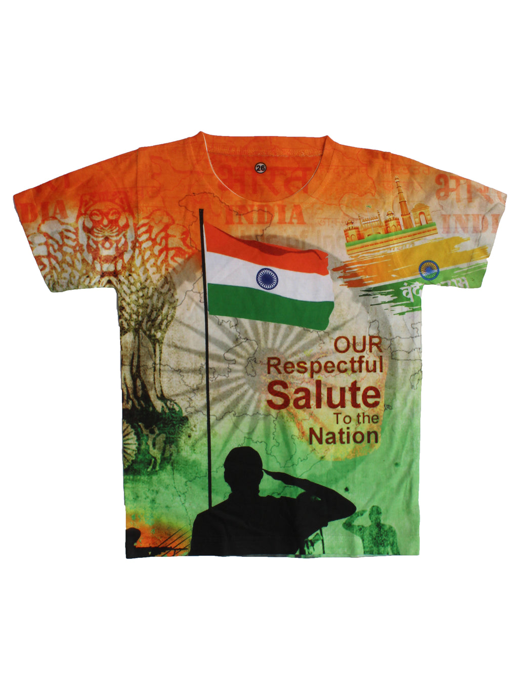 Wish Karo | Boys Independence Day Tshirt Multi-Color