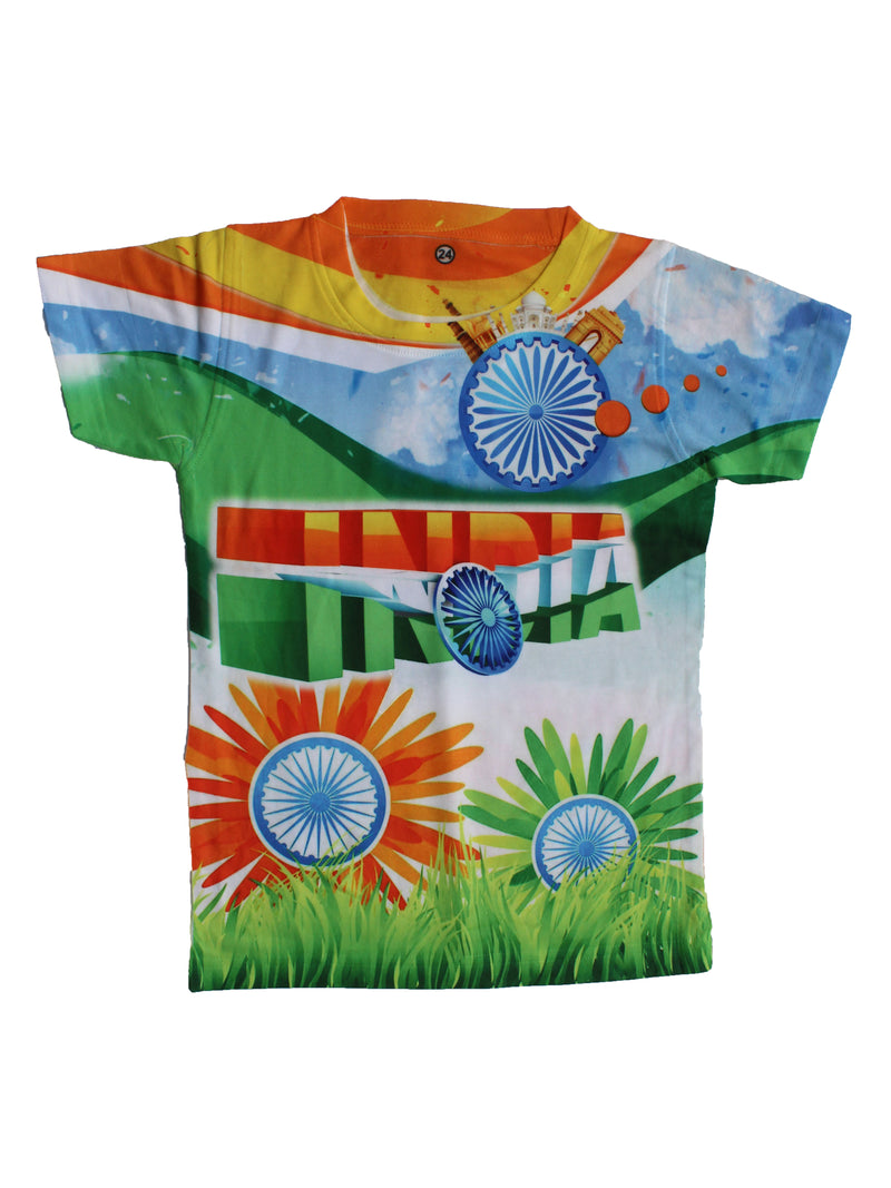 Wish Karo | Boys India Tshirt Multi-Color