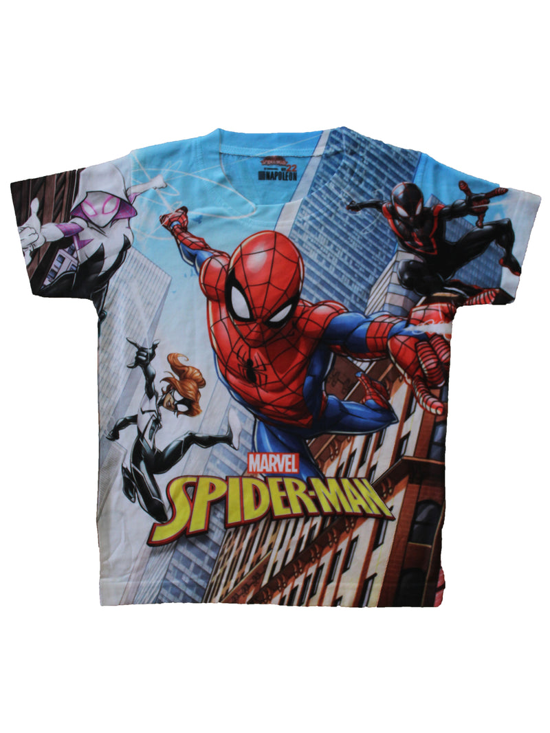 Wish Karo | Boys Spider-man Tshirt Multi-Color