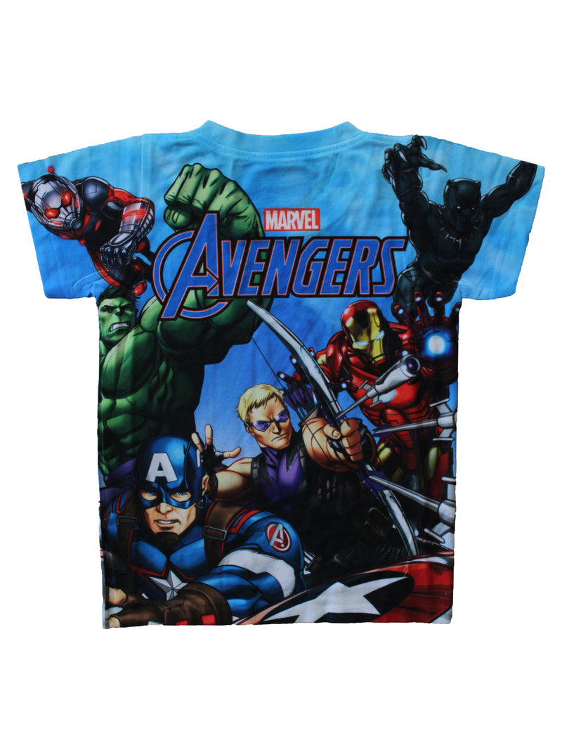 Wish Karo | Boys Marvel Avengers Tshirt Blue