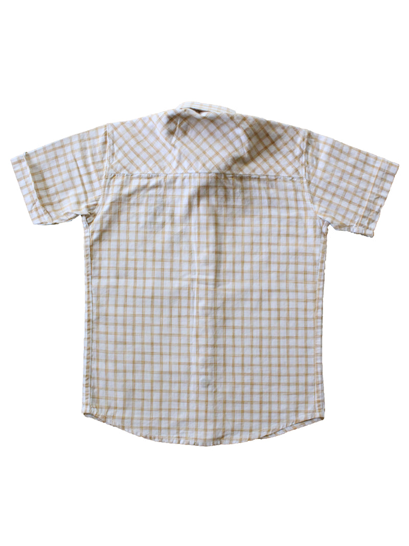 Wish Karo | Boys Checked Shirt Light Yellow