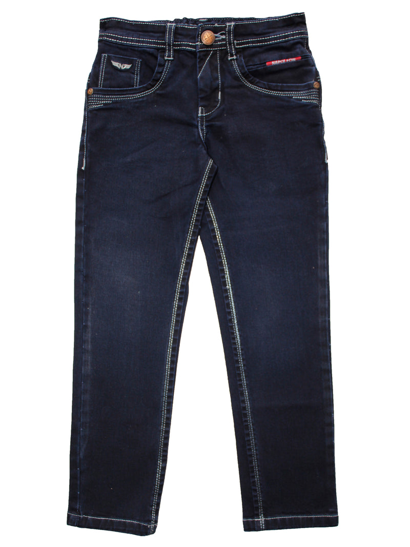 Wish Karo | Boys Dark Blue Denim Jeans