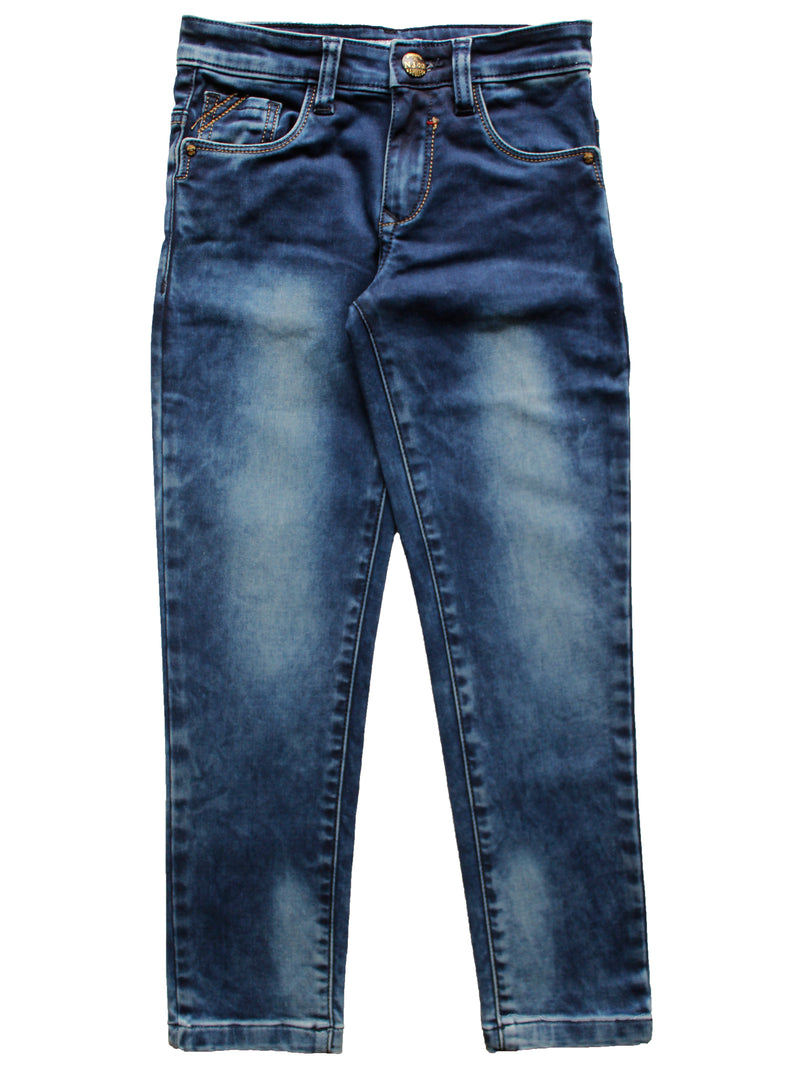 Wish Karo | Boys Blue Fade Denim Jeans