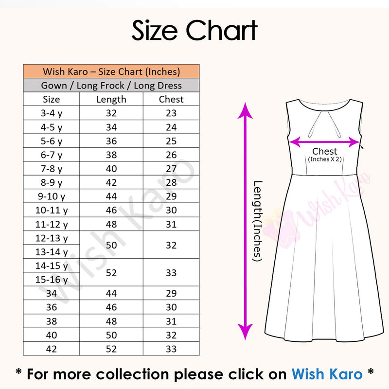 Wish Karo Baby Girls Partywear Dress Long Frocks For Girls (LF205pch)
