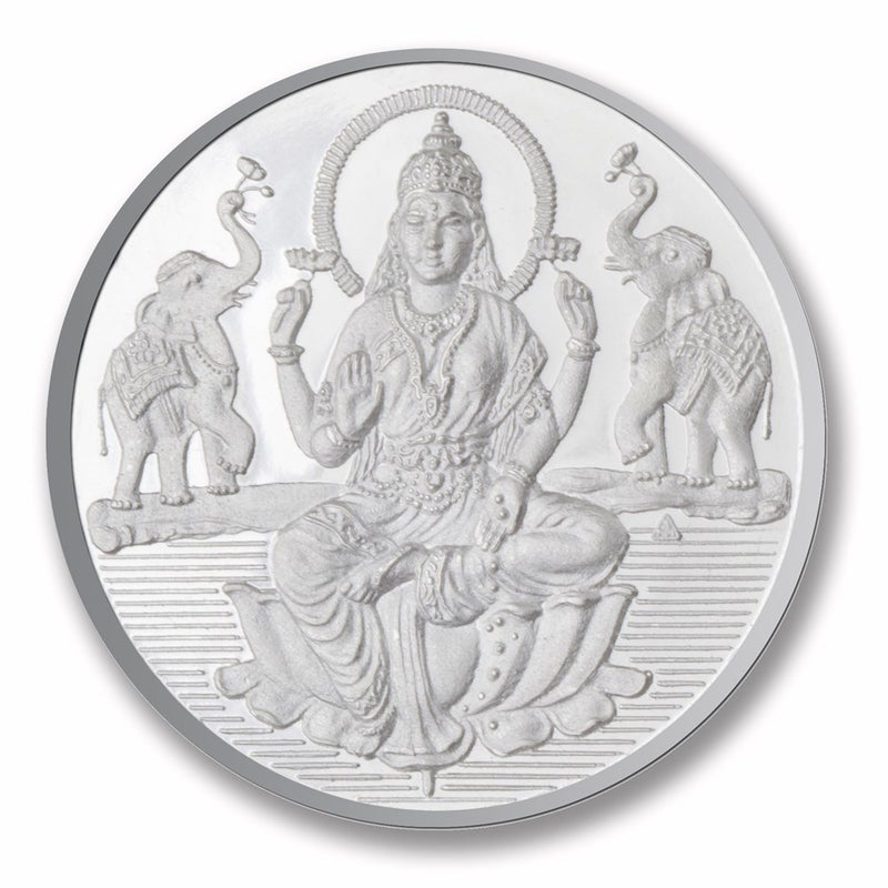 Shree Laxmi  Silver Coin( 50 Gms ) -  Wish Karo Dresses
