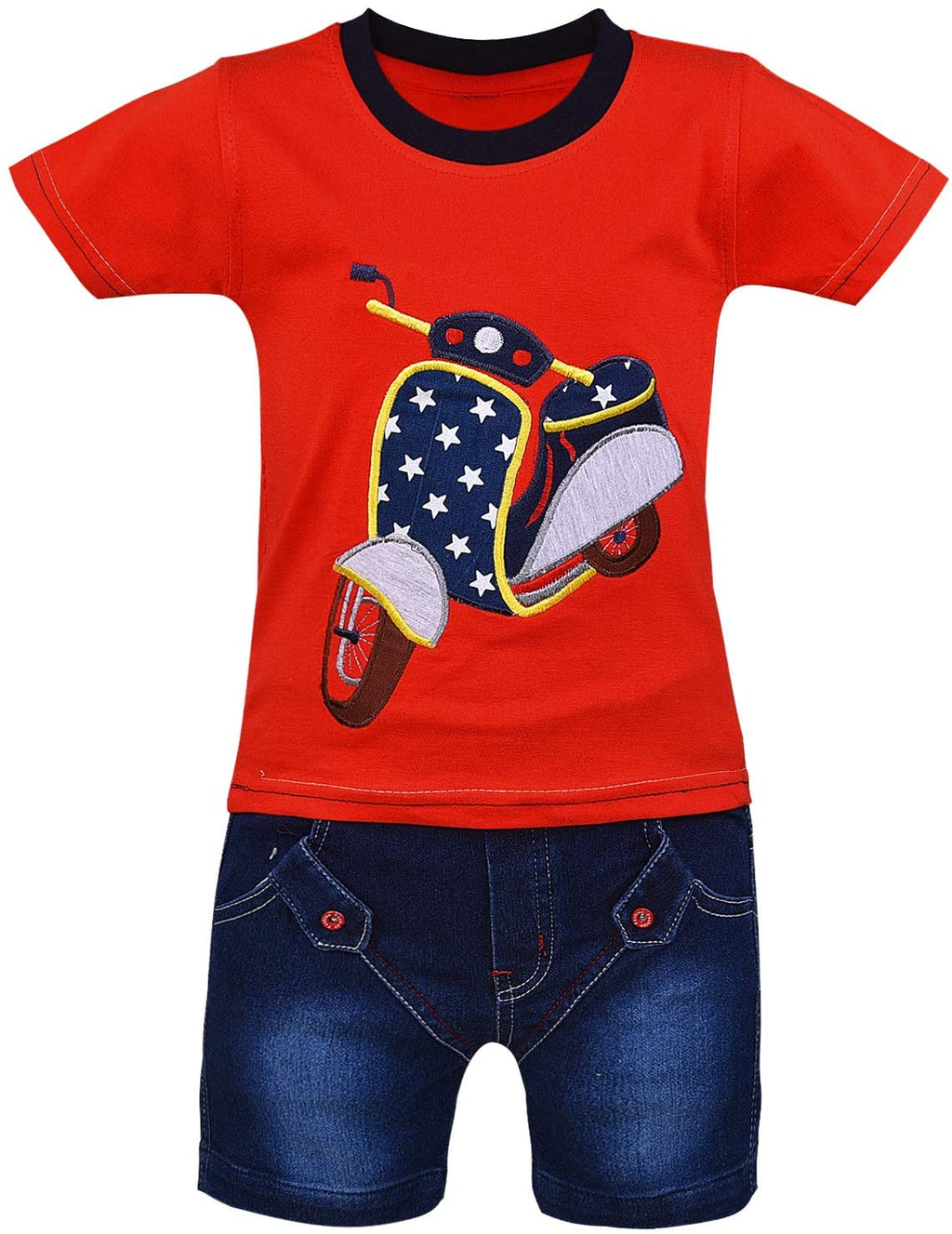 Wish Karo Unisex Clothing Sets for Boys & Baby Girls-(bt22rd)
