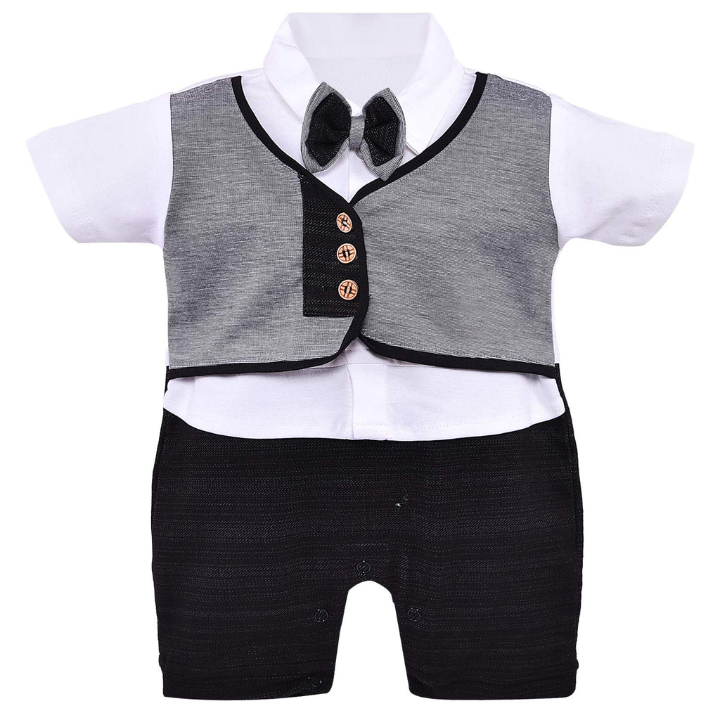 Wish Karo Kids Rompers For Boys-(bt74blk)