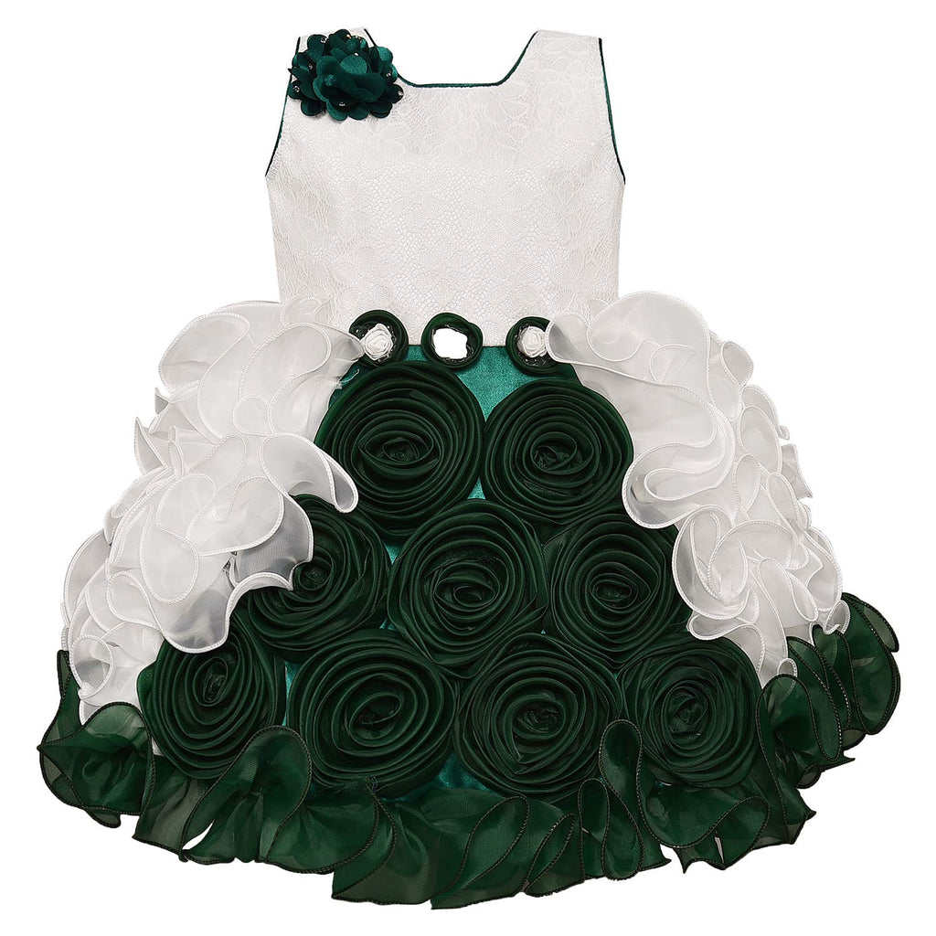 Baby Girls Party Wear Dress Birthday Frocks For Girls bxa170grn