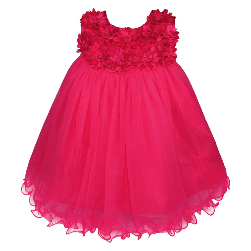 Baby Girls Party Wear Dress Birthday Frocks For Girls bxa197pnk
