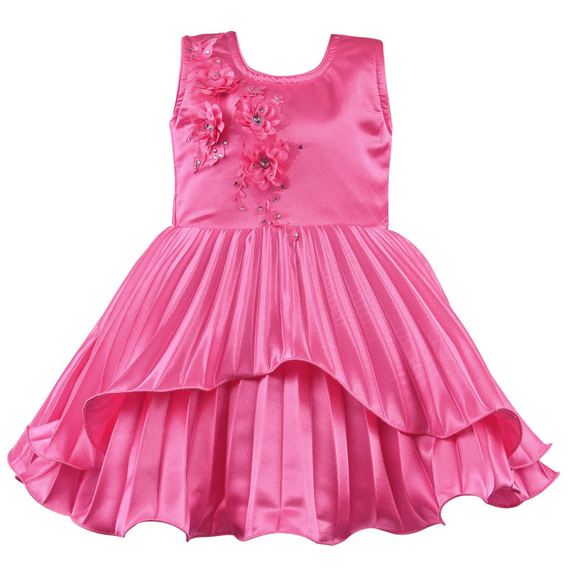 Baby Girls Party Wear Dress Birthday Frocks For Girls bxa235pnk