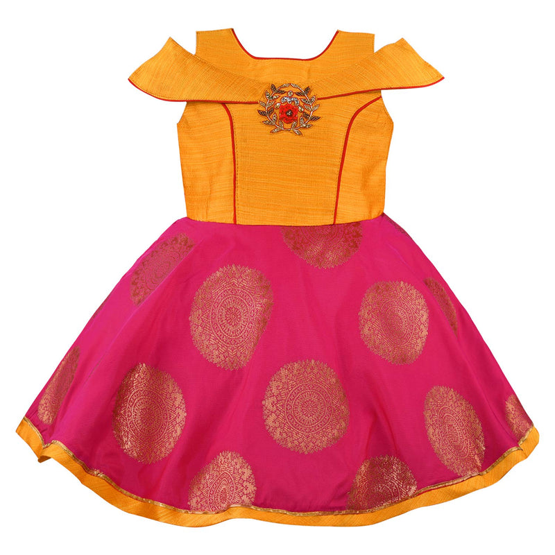 Baby Girls Party Wear Frock Birthday Dress For Girls  bxa241y
