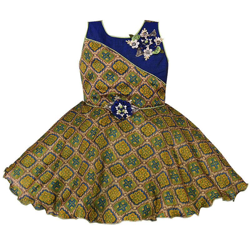 Baby Girls Frock Dress-bxa251blu