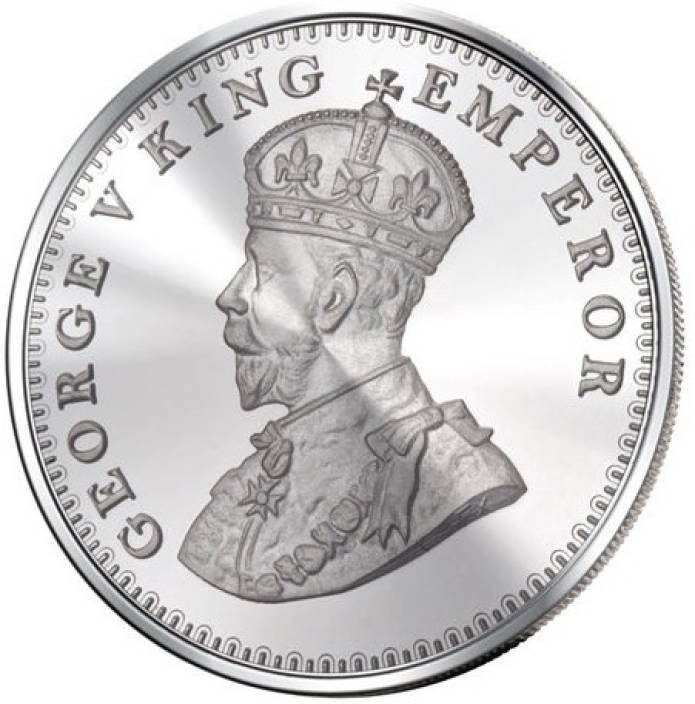 King George coin S 999 Silver Coin (50 gms) -  Wish Karo Dresses