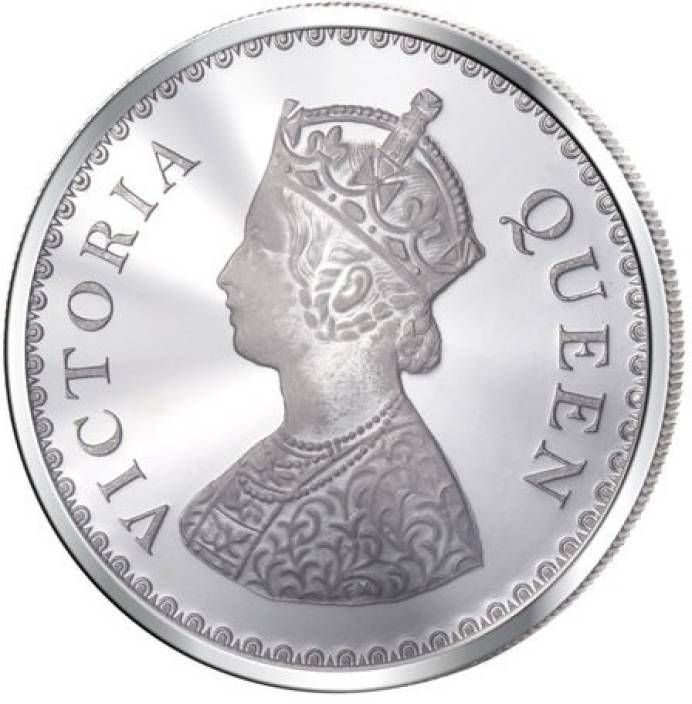 Queen Victoria S 999 Silver Coin (50 gms) -  Wish Karo Dresses