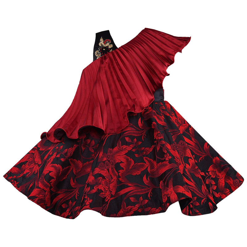 Baby Girls Frock Dress-fe1006red