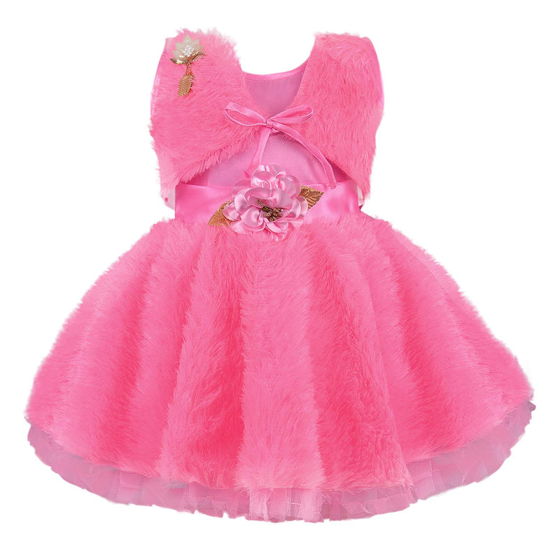 Baby Girls Party Wear Frock Birthday Dress For Girls fe2668pnk