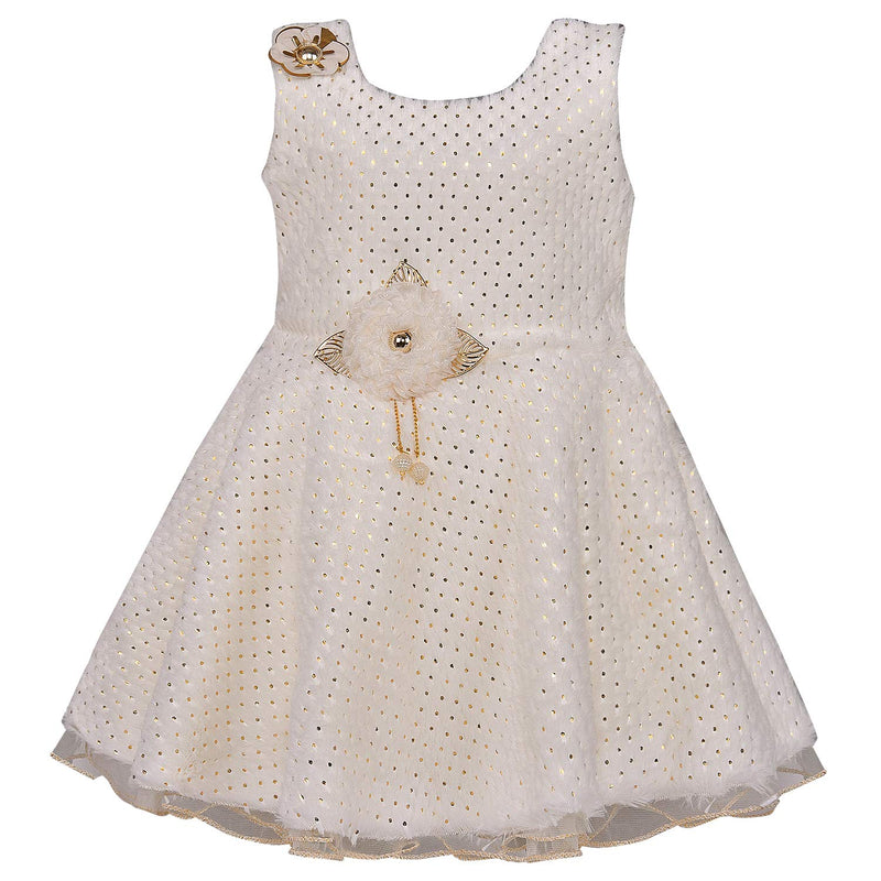 Wish Karo Baby Girls Partywear Frocks Dress For Girls (fe2689wht)