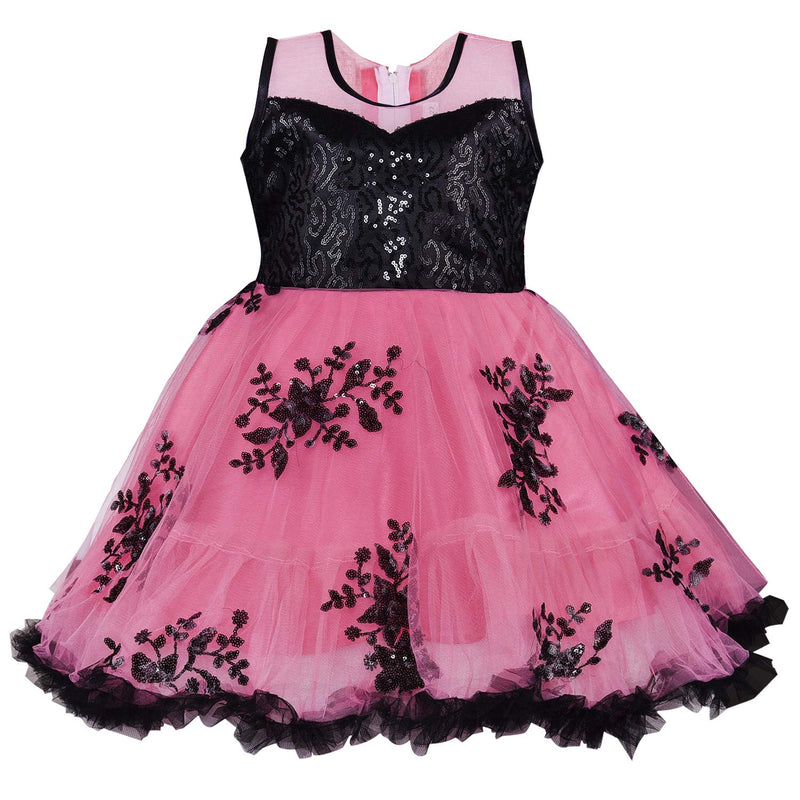 Baby Girls Frock Dress-fe2735pnk