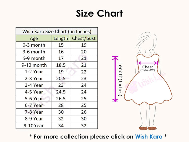 Wish Karo Baby Girls Partywear Frocks Dress For Girls (fe2767mrn)