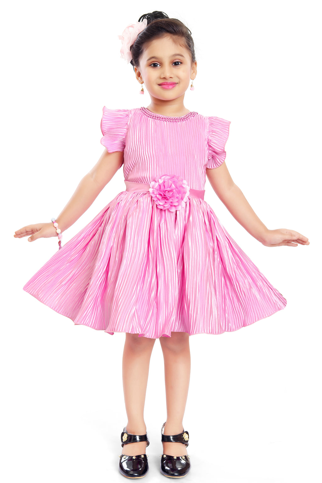 Wish Karo Baby Girls Partywear Frocks Dress For Girls (fe2789pnknw)