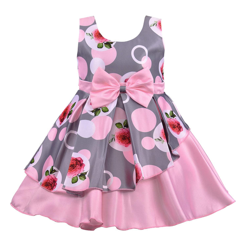 Baby Girls Frock Dress-fe2803bpnk