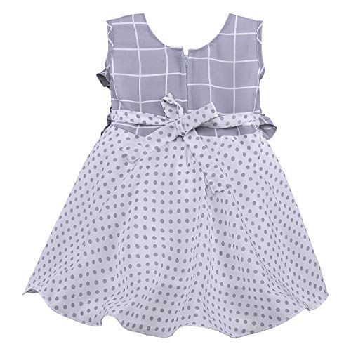 Baby Girls Dress Frock-fe2813gry