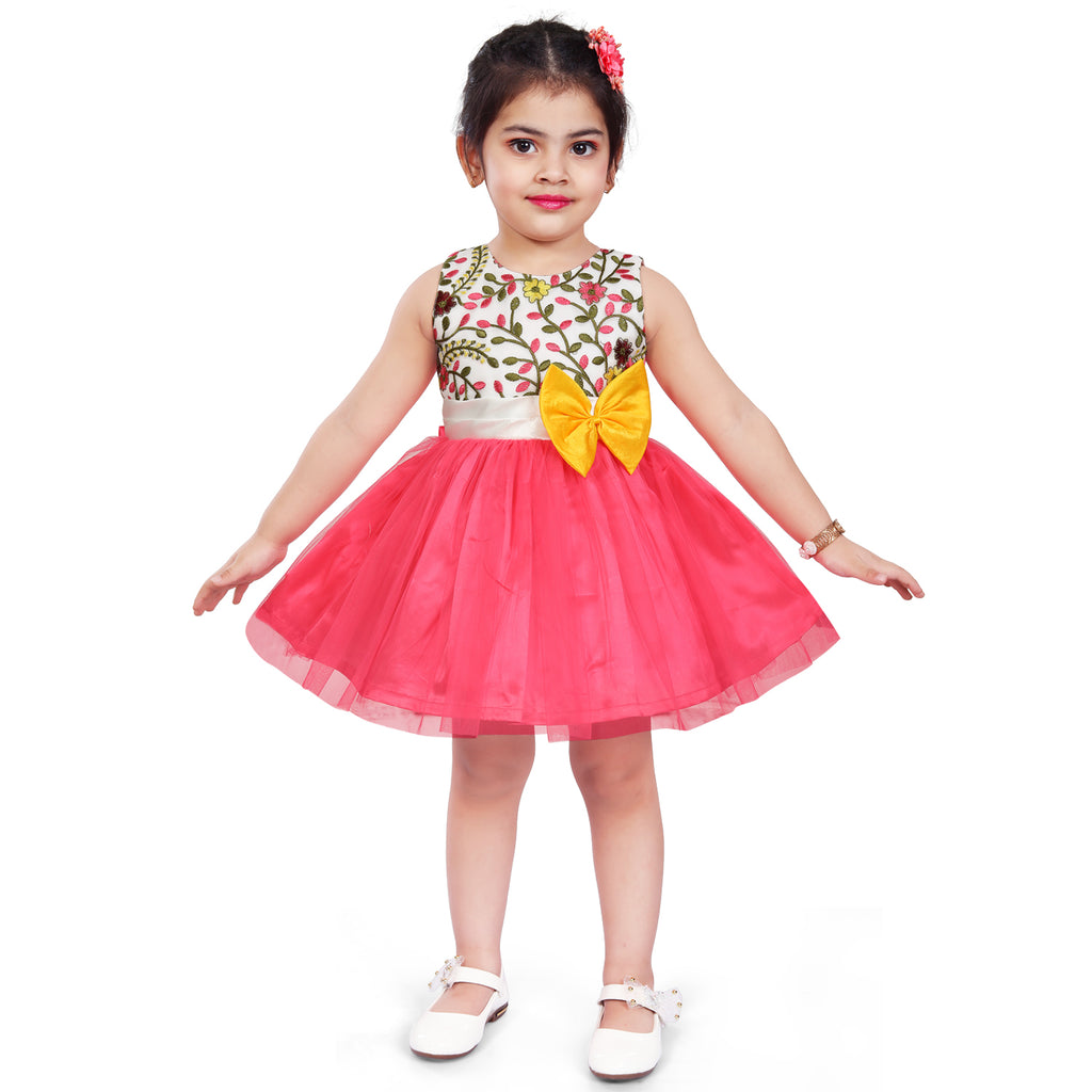 Wish Karo Baby Girls Partywear Frocks Dress For Girls (fe2915pnk)
