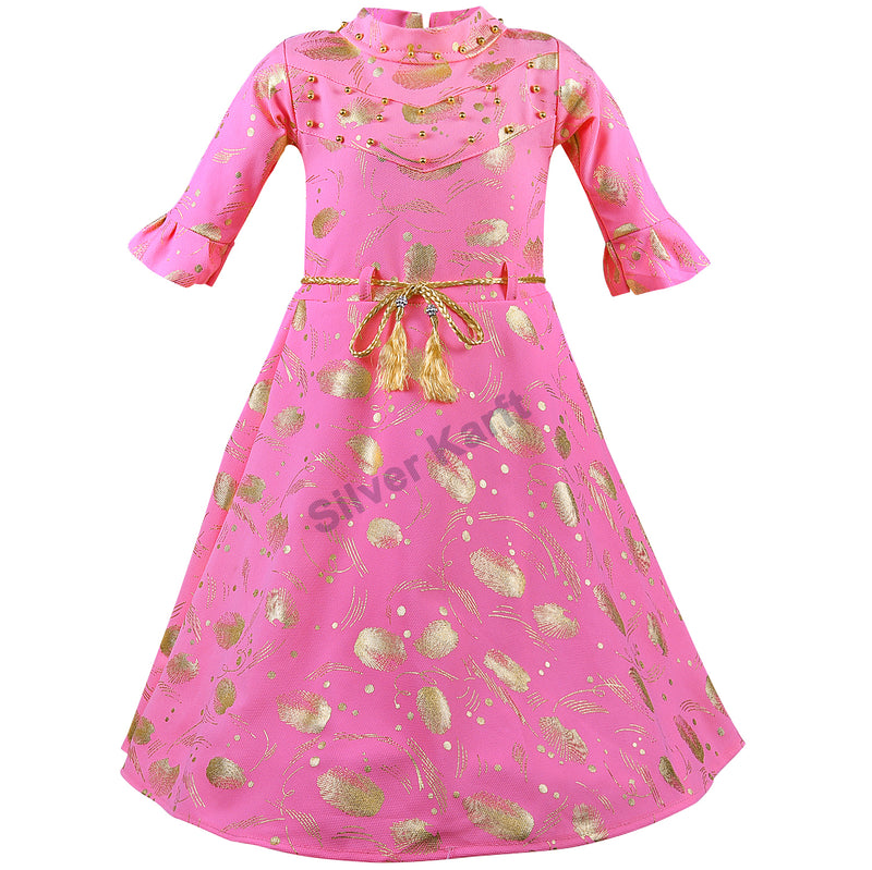 Girls Party Wear Dress - fm03pnk