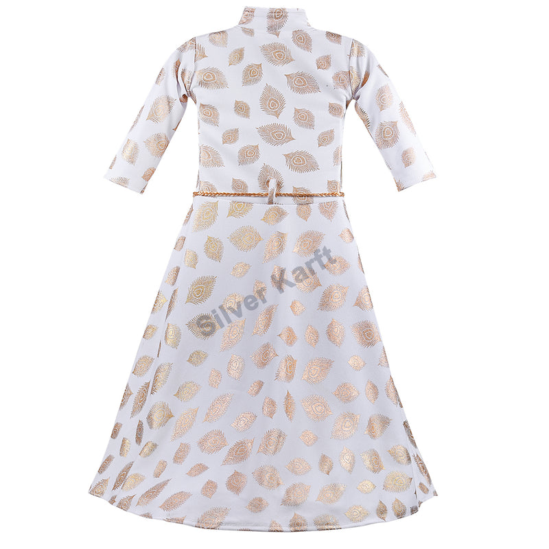 Girls Party Wear Dress - fm03wht