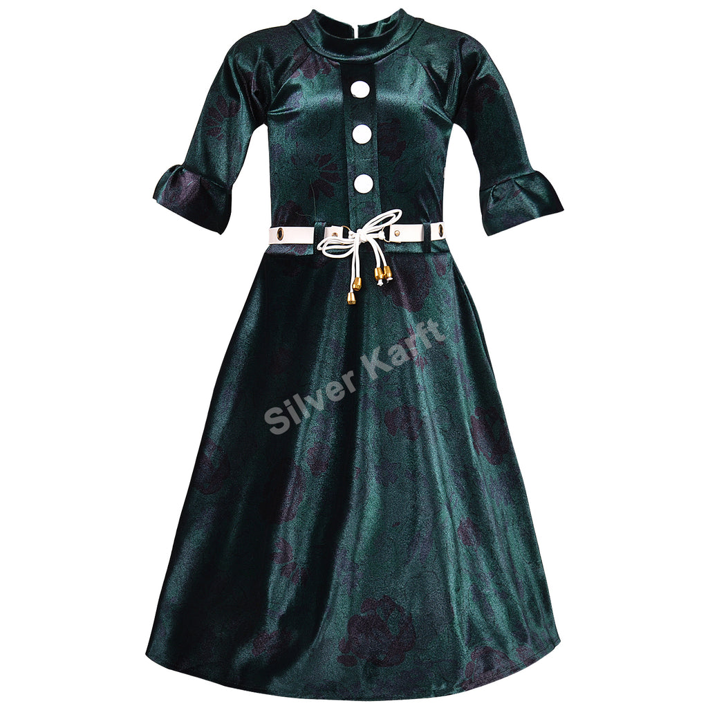 Girls Party Wear Dress - fm06dgrn