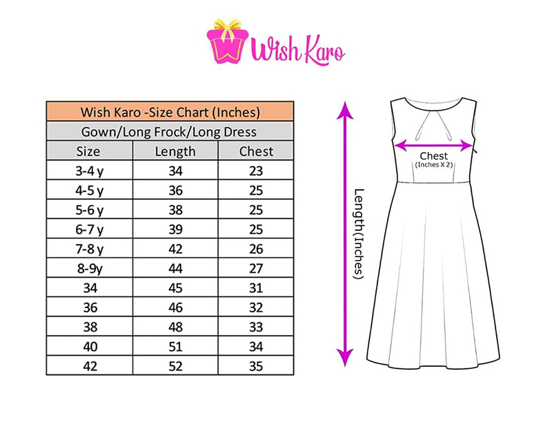 Girls Party Wear Long Dress Birthday Gown for Girls LF159mrn