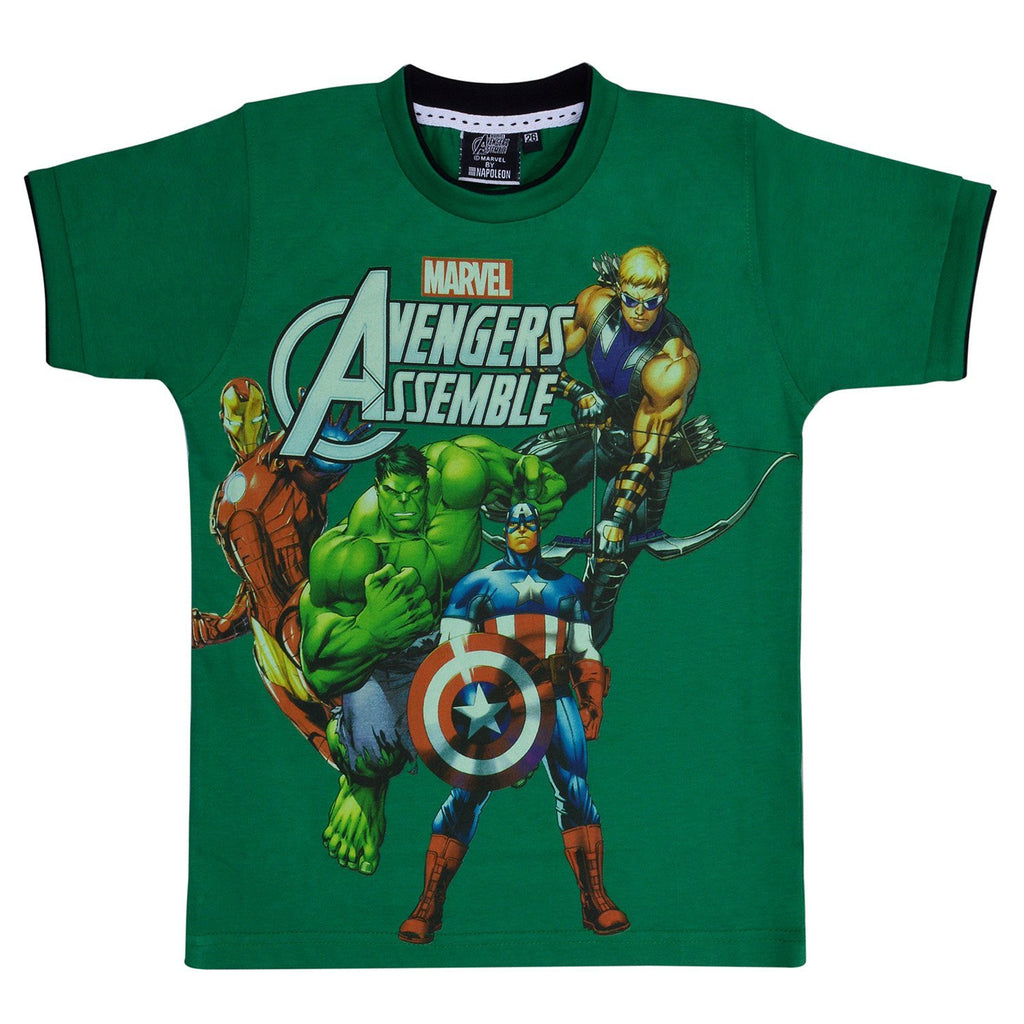 Boys Avangers Tshirt Green -  Wish Karo Dresses