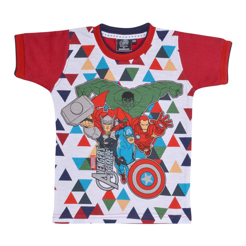 Boys Avangers Tshirt Red -  Wish Karo Dresses