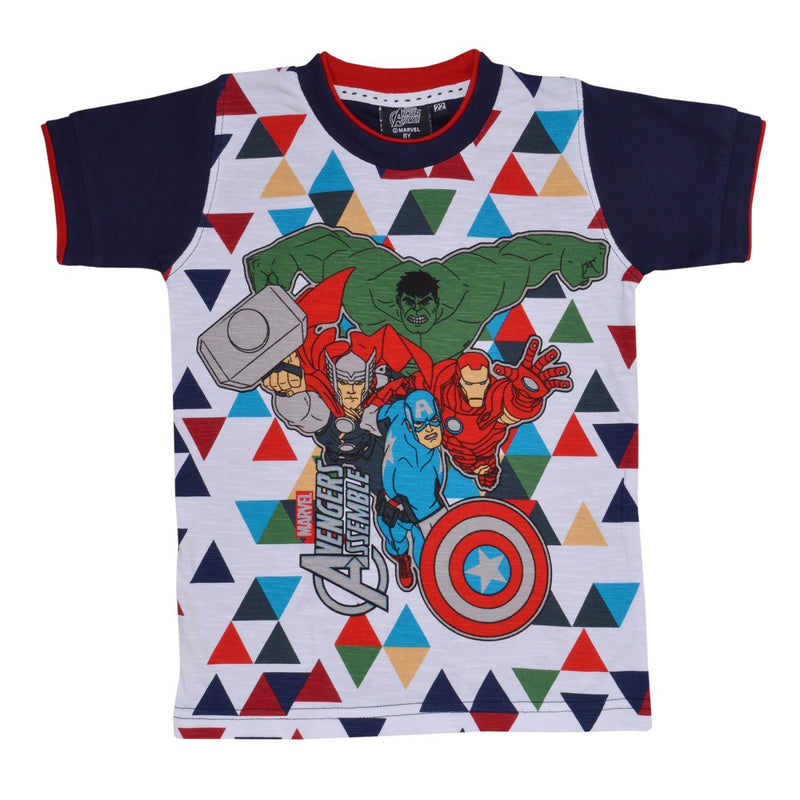 Boys Avangers  Tshirt Blue -  Wish Karo Dresses