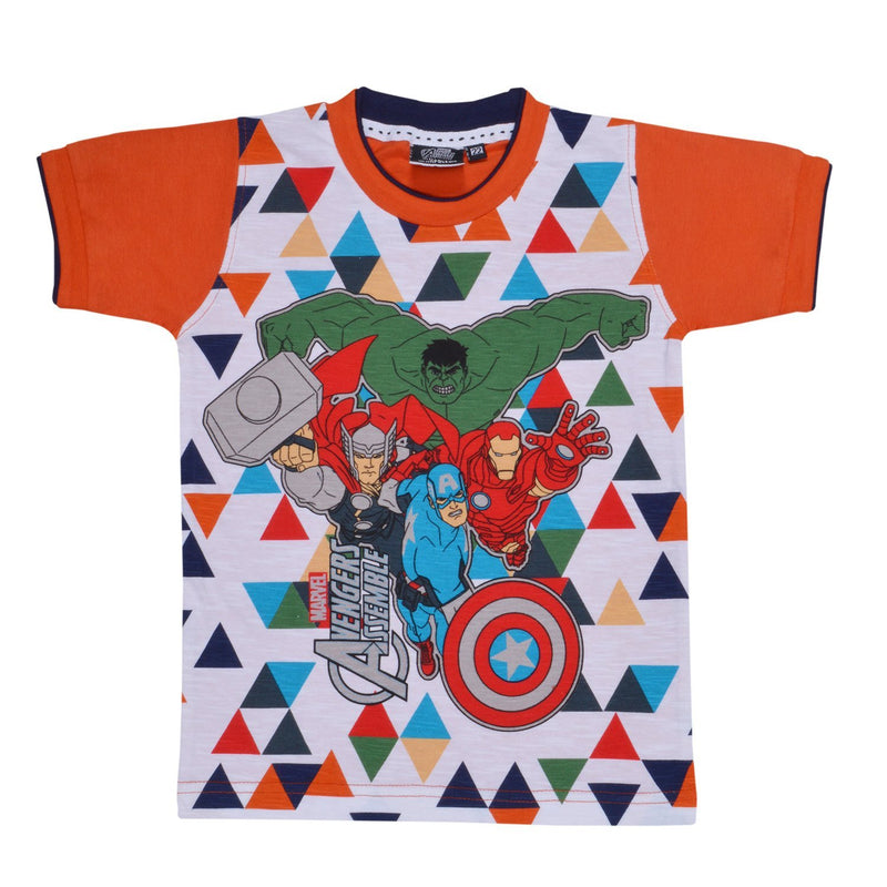 Boys AvangersTshirt  orange -  Wish Karo Dresses